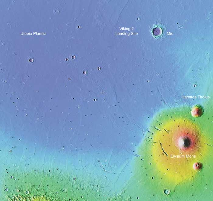 The Viking 2 landing site on Mars-A