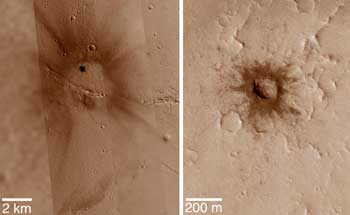 Rayed impact craters