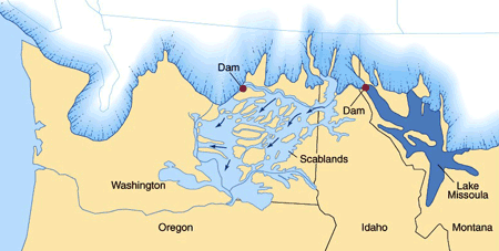 ice sheet in northern washington