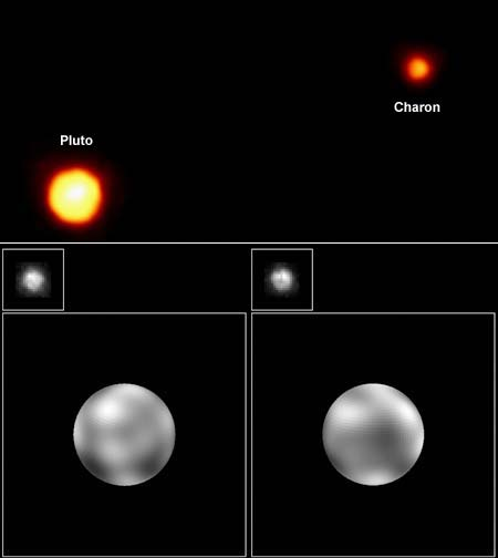 Pluto and Charon from Hubble